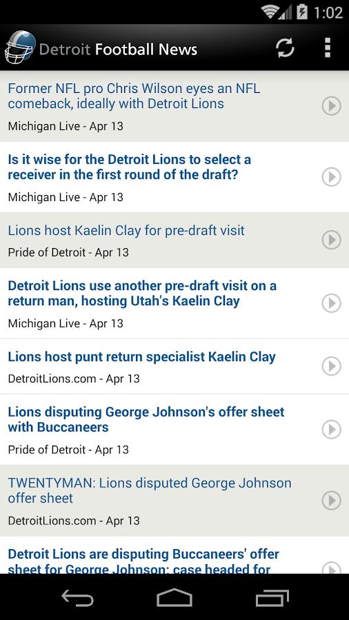 Detroit Football News - screenshot