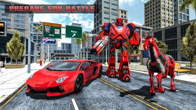 Robot Car Transformation – Wild Horse Robot Games apk screenshot
