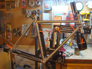 Photo: Now with all the lugs and the seat stays prepped.