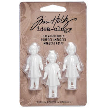 Tim Holtz - Advantus Idea-Ology Salvaged Dolls 1.75 3/Pkg