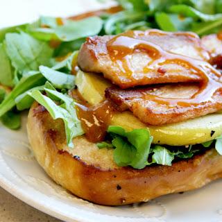 Pork Belly Pretzel Sandwich.