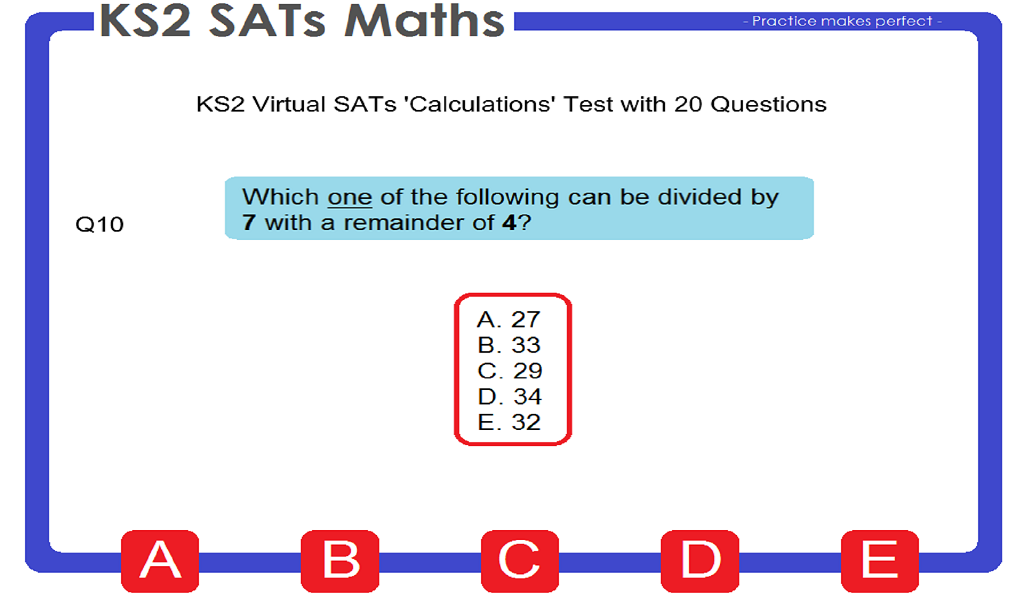 Ks2 Sats Maths Android Apps On Google Play