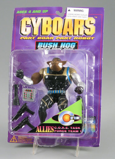 Action figure:Cyboars | Bush Hog, Motor Bikin' Boar