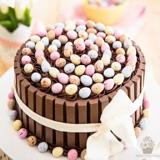KitKat Cadbury Cream Egg Easter Cake
