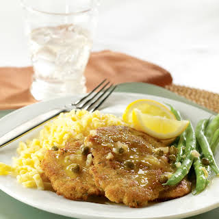 Pork Schnitzel with Lemon-Caper Cream.