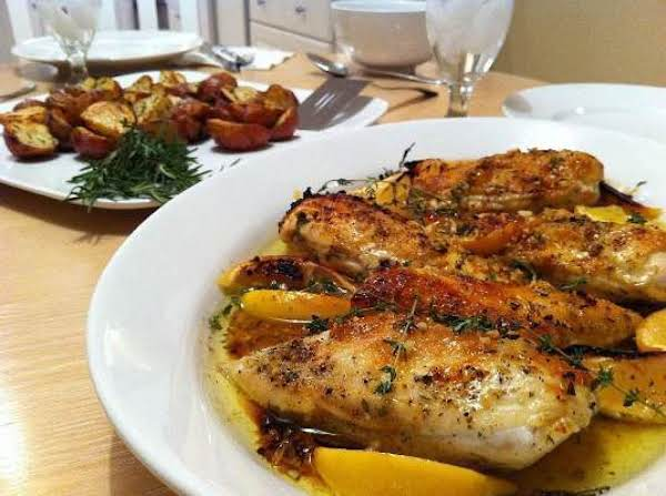 Roast Chicken With Two Lemons Recipe