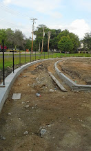 Photo: Warning Track Curb 08-05-2014