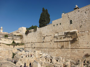 Photo: Former archway/stairway to the Temple Mount destroyed by the Romans.