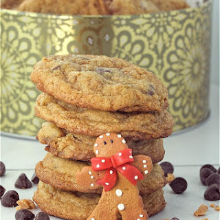 Chewy Gingerbread Chocolate Chip Cookies for Santa.