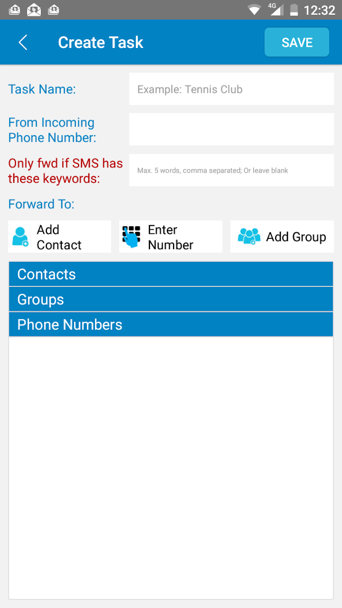 Auto Forward SMS to another number & email Android 4