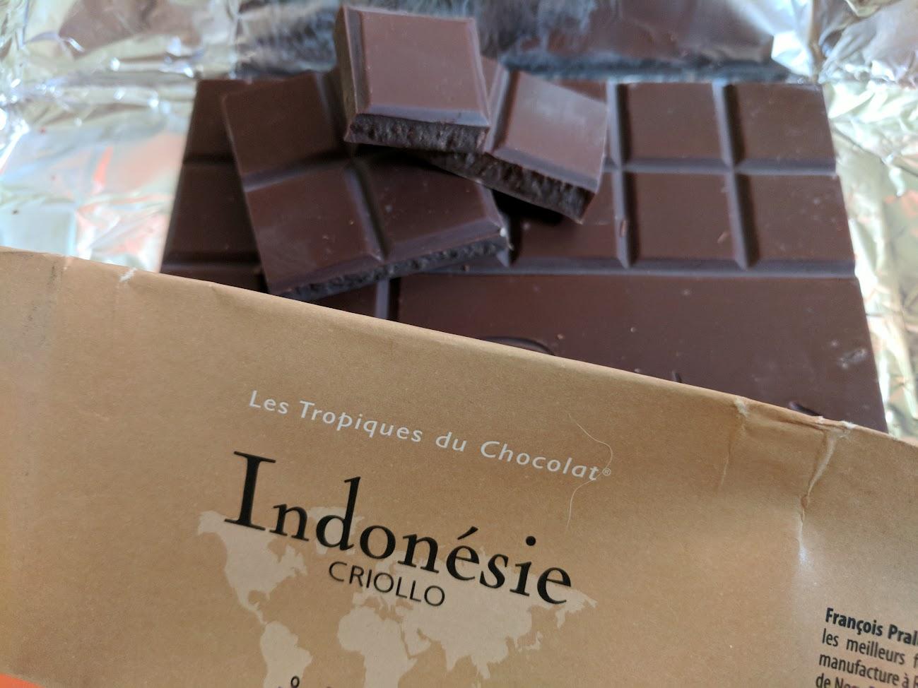 75% pralus indonesie bar open