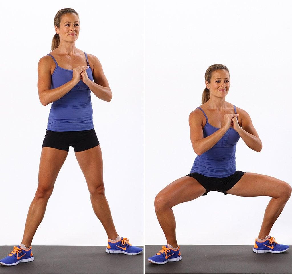 Plie squats inner thigh workout routine