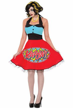 Pop Art, halterneckklänning