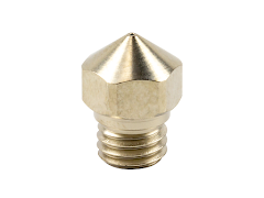 Micro Swiss A2 Hardened Steel Plated Mk10 Nozzle for FlashForge 3D Printers - 1.75mm x 0.40mm