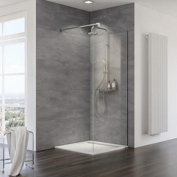 Paroi de douche fixe à l'italienne Walk In, 90, 100, 120 cm, 10 mm