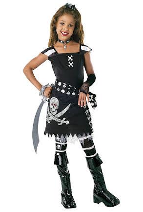 Svart piratklänning, barn