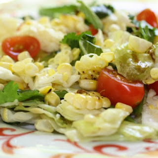 Thai Style Corn & Chopped Cabbage Salad on the Grill