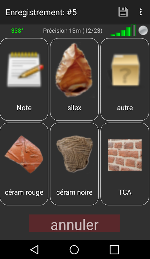 Archeotracker – Capture d'écran