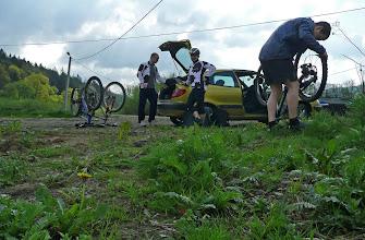 """Photo: Plan na dziś to podjazd na Leskowiec czerwonym z Zembrzyc """"a potem się zobaczy"""""""