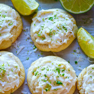 Lime Sugar Cookies with Coconut Frosting Recipe