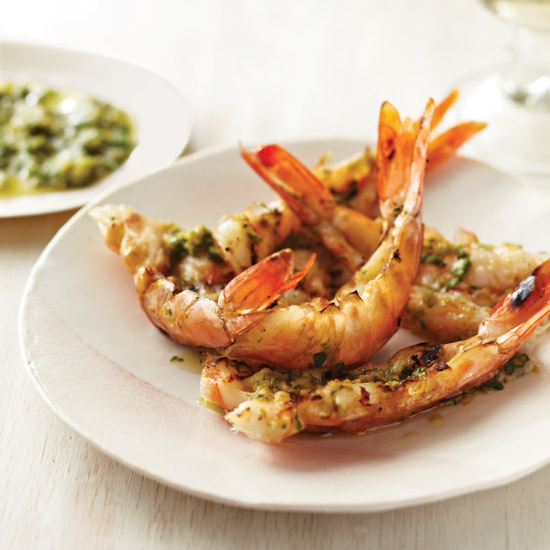 Spicy Grilled Shrimp with Yuzu Kosho Pesto Recipe