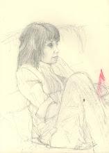 "Photo: Sketch of a Sketcher, 21cm x 29cm, 8"" x 11.5"", 2012, graphite, Moleskine folio Sketchbook A4."