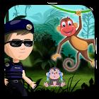 Police  vs Jungle Monkey free run adventures icon