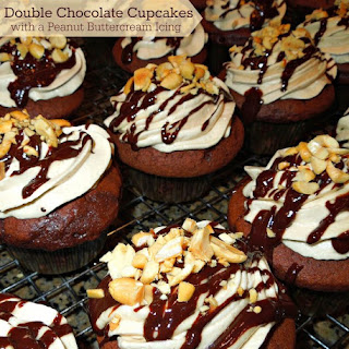 Double Chocolate Cupcakes with a Peanut Buttercream Icing Recipe