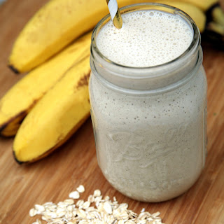 Banana Cream Overnight Oats Smoothie.