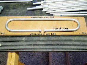 Photo: __ Réalisation du trombone ,en premier tracer un gabarit puis appliquer la méthode du tuto fait avec Daniel F5DM sur la page du RC F5KCK , http://www.f5dm.fr/trombone/index.html