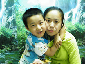 Photo: dinned out on lunar DragonBoat Day with baby son and his mom near their house, a Koreal cuisine restaurant. I just brought son visit zoo and treat bears, pigs, dears with pork and vegetable we bought. playful son, warrenzh 朱楚甲, with his mom, emakingir.