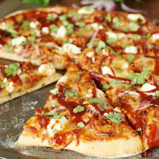 Sweet-&-Spicy Pulled Pork BBQ Pizza.