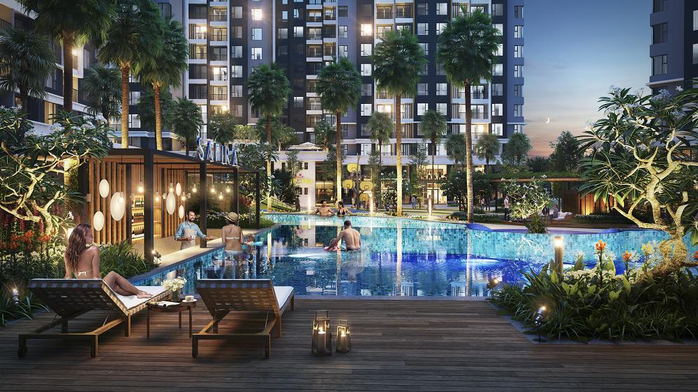 Bể bơi và nhiều tiện ích khác đều có mặt trong dự án bất động sản của Khang Điền