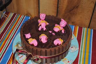 Photo: Hogs in mud!