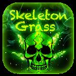 Skull Grass Keyboard Theme