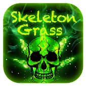Skull Grass Keyboard Theme