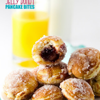 Jelly Donut Pancake Bites