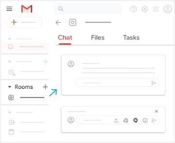 """Maximieren Sie den Bereich """"Chatrooms"""" und klicken Sie auf den Tab """"Chat""""."""