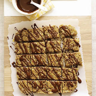 Sticky Sesame Bars with Raw Chocolate Drizzle.