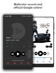 Material2 ⚡️ PowerAmp v3 Skin Screenshot