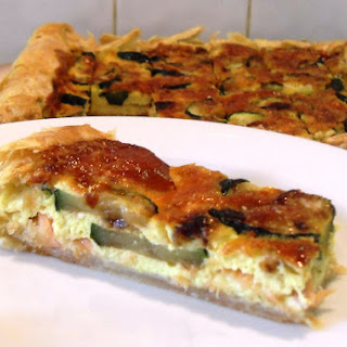 Salmon, Courgette and Shallot Quiche