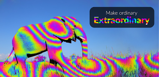 Colorful, trippy, creative, live, weird and funny camera and photo effects app