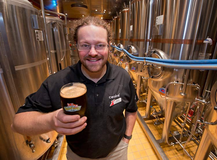 Lift a pint at the first brewery at sea on Cruiseable Vista.