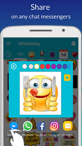 Screenshot for  WhatSmiley : Smileys, GIF, Emoticons en Sticker in Hong Kong Play Store