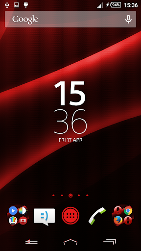 Darkness Red Xperien Theme