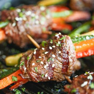 Asian Steak Roll Ups.