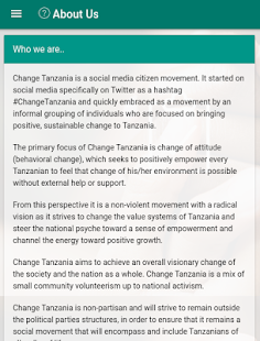 Change Tanzania- screenshot thumbnail