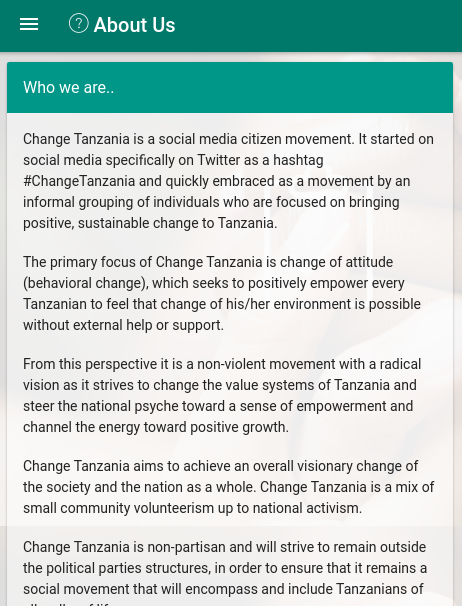 Change Tanzania- screenshot