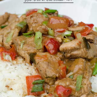 Slow Cooker Caribbean Pork.