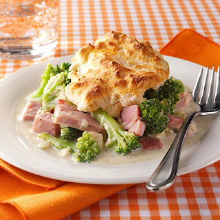 Ham and Broccoli Biscuit Bake.